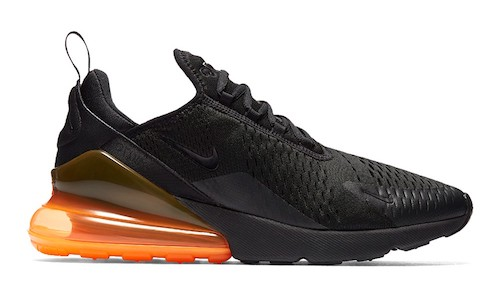 Nike Air Max 270 – Black / Tonal Orange