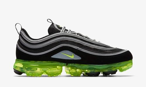Nike Air VaporMax 97 – Black / Volt / Metallic Silver