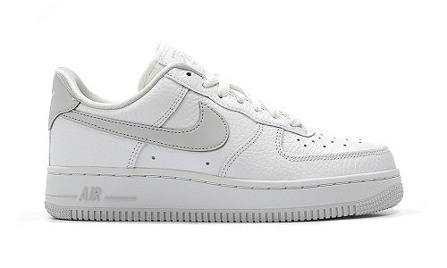 5dce2eaa19 Nike Wmns Air Force 1 Low – White / Vast Grey-White | snkraddicted.com