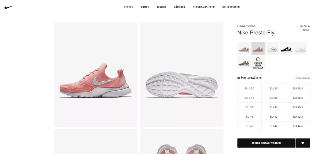Nike Presto Fly (Coral Stardust / White)