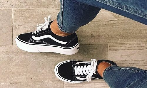 Vans Old Skool Platform – Black / White