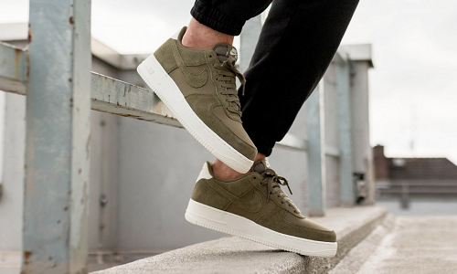 Nike Air Force 1 Suede Olive